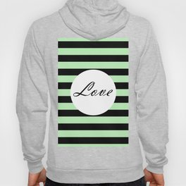 Vintage Love - Pastel green and black design Hoody