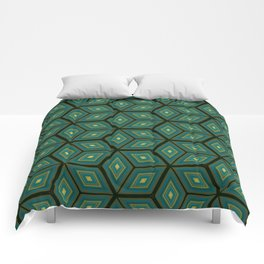 Cubed Geometrical Pattern Comforters