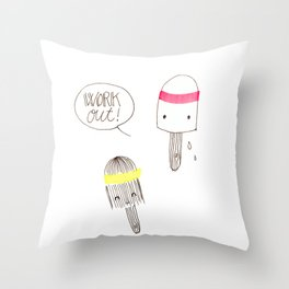 work out! Throw Pillow
