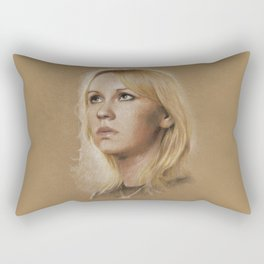 That blonde girl Rectangular Pillow