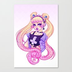 Pastel Goth Usagi (Glasses OFF) Canvas Print