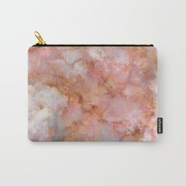 Beautiful & Dreamy Rose Gold Marble Carry-All Pouch