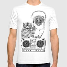 Silent Night ANALOG zine Mens Fitted Tee MEDIUM White