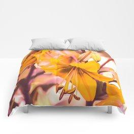 Yellow Lilies In The Garden #decor #society6 #buyart Comforters