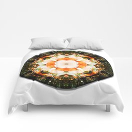 4 Point Mandala - Pumpkins Comforters
