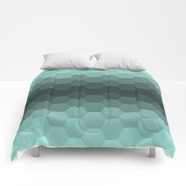 Teal Mint Honeycomb Comforters