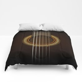 Full Guitar Black Comforters