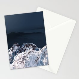 BLUE MARBLED MOUNTAINS Stationery Cards