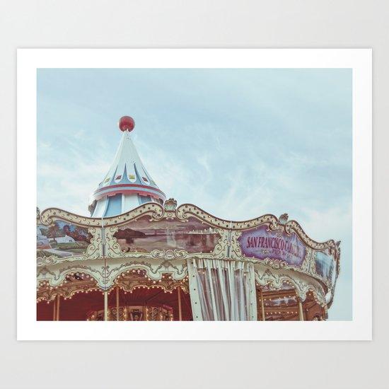 Pier 39 Carousel Art Print