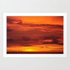 Soak up the sun. Art Print