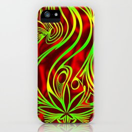 weed phone case 1 red green yellow iPhone Case