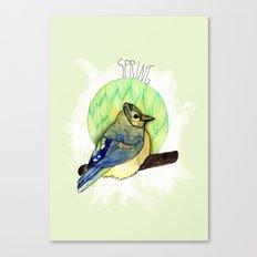 Spring birdy / Nr. 6 Canvas Print