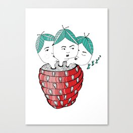 Strawberry Sisters Canvas Print