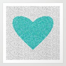 Aqua Love Art Print