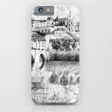 Terrasson village - Black ink Slim Case iPhone 6s