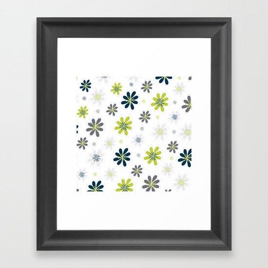 Simple Multi Flower Framed Art Print