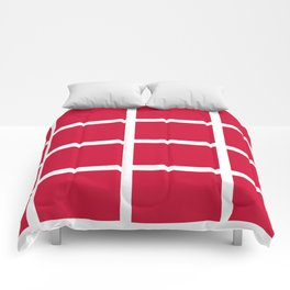 abstraction from the flag of denmark Comforters
