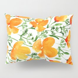 Watercolor California poppies Pillow Sham