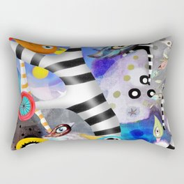 Brainwashing - Good bye Sozialismus - Floating Ideas - BIRDS STRIPED TREE Rectangular Pillow