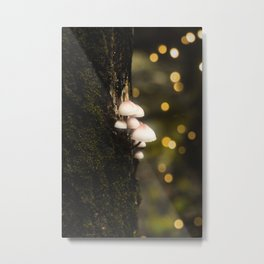 Bokeh Shrooms - Neon by Nature - @zekekitchen Metal Print