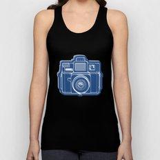 I Still Shoot Film Holga Logo - Blue Unisex Tank Top