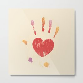 Heart Hand Metal Print