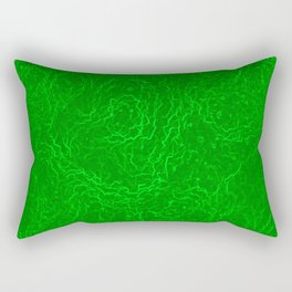 Neon Green Alien DNA Plasma Swirl Rectangular Pillow