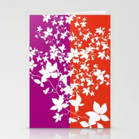 climbing Stationery Cards featuring Climbing Flowers by Mari Biro