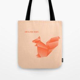 Allergic to Nuts - Origami Orange Squirrel Tote Bag