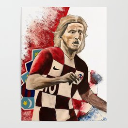 Luka Modric,soccer,croatia,golden ball,2018,world cup,hrvatska,super star,poster,print,wall art Poster