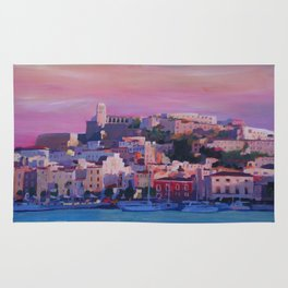 Ibiza Eivissa Old Town and Harbour Pearl of the Mediterranean Rug