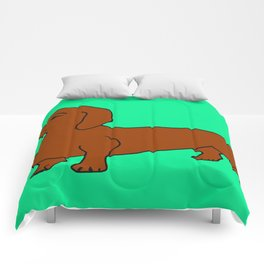 The cute dachsund Comforters