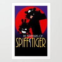 Spiff n Tiger Art Print