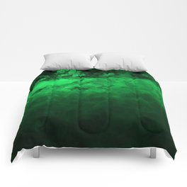 Green Spotted Comforters