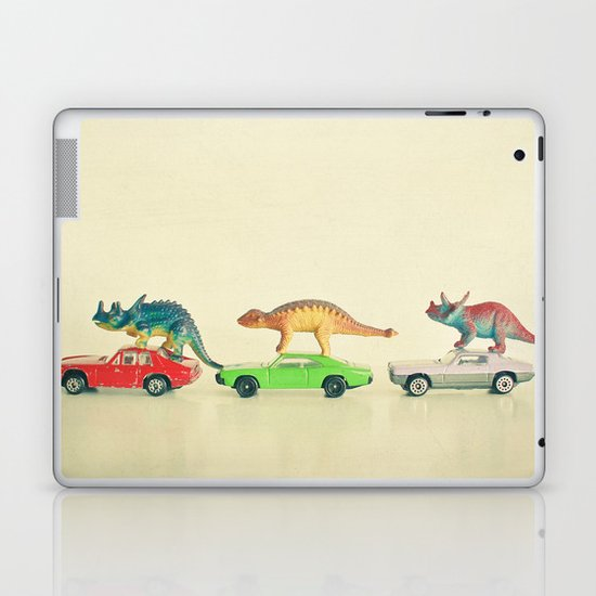 Dinosaurs Ride Cars Laptop & iPad Skin
