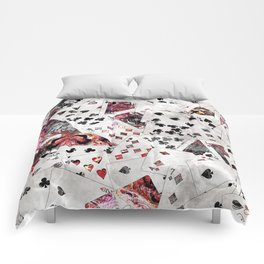 Abstract  Playing Cards Digital art Comforters