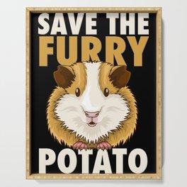 Furry Potato T-Shirt guinea pig lover gift Serving Tray