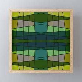 Green Pattern Turtle Framed Mini Art Print