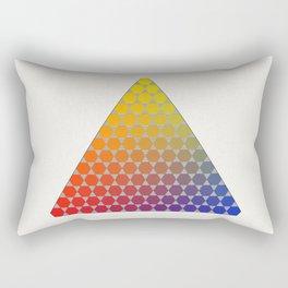 Lichtenberg-Mayer Colour Triangle recoloured remake, based on Mayer's original idea and illustration Rectangular Pillow
