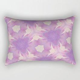 Geometric Floral Design - Purple Rectangular Pillow