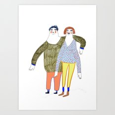 The Couple Art Print