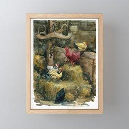 Prophetstown Chickens Framed Mini Art Print