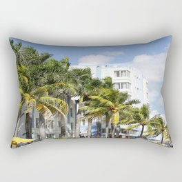 Yellow Cabs On Ocean Drive Rectangular Pillow