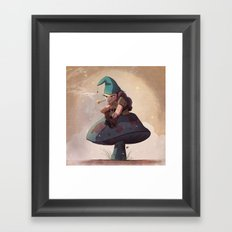 Gnome Away From Home Framed Art Print