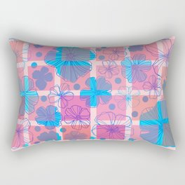 Drawing flowers in cubes Rectangular Pillow