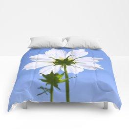 White Cosmos Flower Comforters