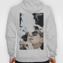 Cigar Smoker Cigar Lover John F Kennedy Gifts Black And White Photo Tees Hoody