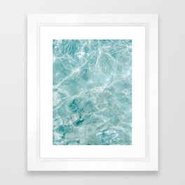 Clear blue water | Colorful ocean photography print | Turquoise sea Framed Art Print