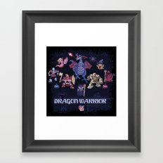 Warrior Dragon Framed Art Print