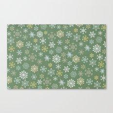 christmas snowy green Canvas Print